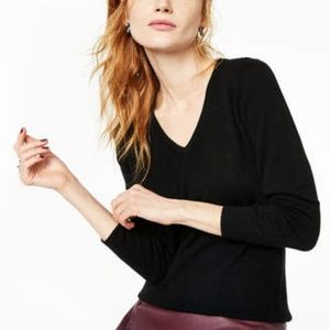 Charter Club Black Cashmere Sweater